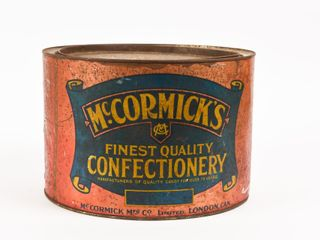EARlY McCORMICK S CONFECTIONARY TIN
