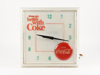 THINGS GO BETTER WITH COKE ElECTRIC ClOCK
