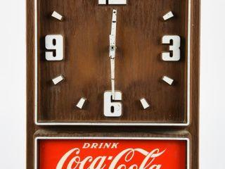 DRINK COCA COlA PlASTIC BAT  OP  ClOCK