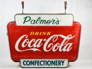 PAlMER S DRINK COCA COlA CONFECTIONERY SIGN