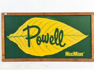 FRAMED POWEll MAXIMISER TOBACCO S S AlUM  SIGN