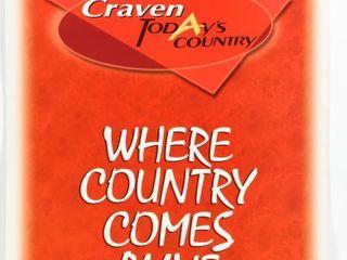 CRAVEN A WHERE COUNTRY COMES AlIVE CARDBOARD ADV