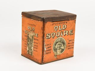 TUCKETTS OlD SQUIRE TOBACCO CHEST