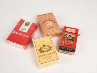 lOT OF 4 CIGARETTE PACKAGES   NOS