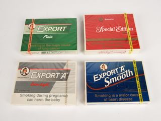 GROUPING OF 4 EXPORT  A  CIGARETTE PACKAGES NOS