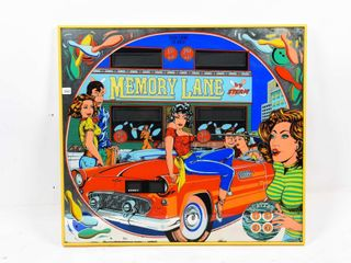 FRAMED MEMORY lANE GlASS FRONT OF ARCADE GAME