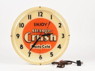 ENJOY ORANGE CRUSH FROSTY COlD ElECTRIC ClOCK