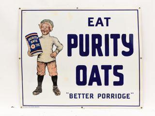 EAT PURITY OATS  BETTER PORRIDGE  SSP SIGN RESTORE