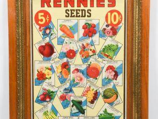 FRAMED RENNIE S SEEDS PAPER ADVERTISING