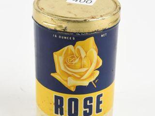 VINTAGE ROSE BAKING POWDER 16 OZ  TIN