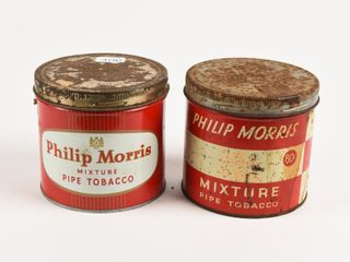 lOT 2 PHIlIP MORRIS PIPE TOBACCO 1 2 POUND CANS