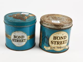 lOT 2 PHIlIP MORRIS BOND STREET PIPE TOBACCO CANS