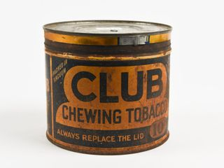 ClUB CHEWING TOBACCO 10 CENT CUT OFF CAN