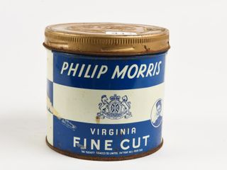 PHIlIP MORRIS FINE CUT 1 2 POUND CAN