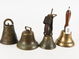 GROUPING OF 4 COllECTOR BEllS
