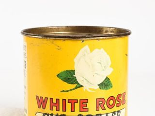 WHITE ROSE CUP GREASE NO  3 FIVE lBS  GREASE CAN