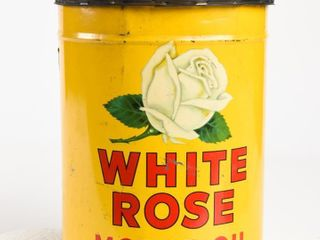 WHITE ROSE MOTOR OIl IMPERIAl GAllON CAN   NO lID
