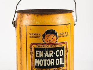 1935 EN AR CO MOTOR OIl FIVE GAllONS PAIl  NO lID