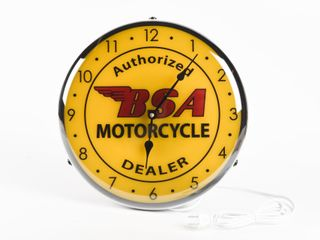 B S A  MOTORCYClE ElECTRIC ClOCK