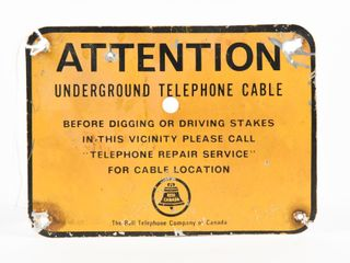 ATTENTION UNDERGROUND CABlE S S AlUM  MARKER