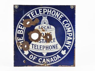 BEll TElEPHONE CO  OF CANADA PORCElAIN FlANGE