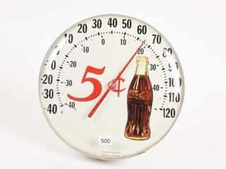 5 CENT COCA COlA JUMBO DIAl THERMOMETER