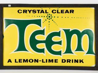 FRAMED TEEM CRYSTAl ClEAR SST EMBOSSED SIGN