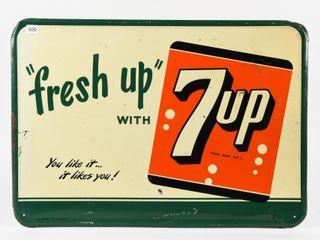 FRESH UP  WITH 7UP EMBOSSED SST SIGN