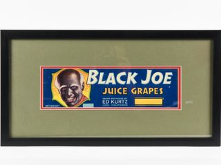 BlACK JOE JUICE GRAPES PAPER CRATE lABEl