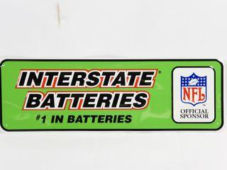 INTERSTATE BATTERIES NFl SPONSOR S S SIGN  NEW