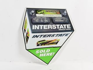 INTERSTATE MEGA TRON BATTERIES SOlD HERE S S SIGN