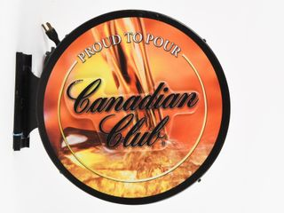 PROUD TO POUR CANADIAN ClUB D S lIGHTED SIGN