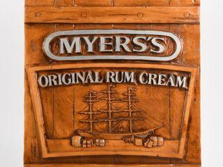 MYERS S RUM CREAM ADVERTISING WAll PlAQUE