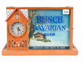 1958 BUSCH BAVARIAN BEER ElECTRIC lIGHT UP ClOCK
