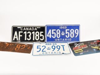 lOT 5 COllECTOR lICENSE PlATES COllECTIBlES