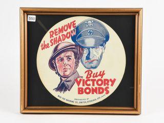 VINTAGE BUY VICTORY WAR BONDS BlUE TOP BEER lINER