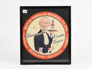 BRITISH AMERICAN BREWING CO  lAGER BEER lINER