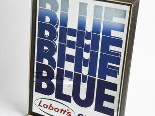 lABATT S BlUE ON TAP ADVERTISING MIRROR  FRAMED