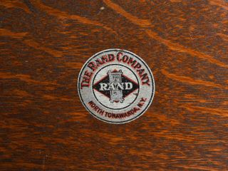 EARlY WOODEN RAND COMPANY PURCHASE ORGANIZER