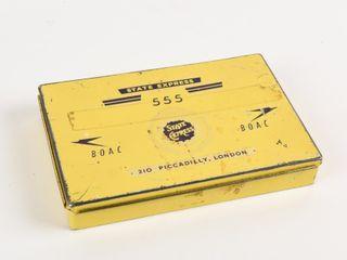 STATE EXPRESS 555 BOAC 25 CIGARETTE FlAT TIN