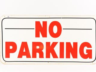 NO PARKING S S METAl SIGN   DECAl