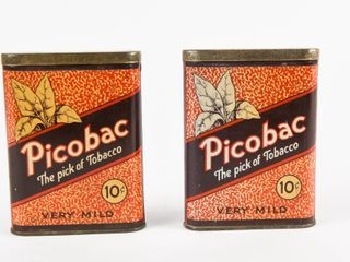 lOT OF 2 PICOBAC 10 CENT TOBACCO POCKET POUCHES