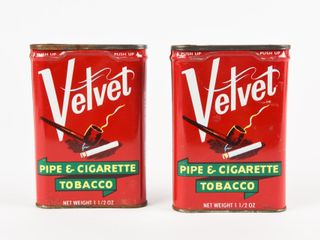 lOT OF 2 VElVET PIPE TOBACCO POCKET POUCHES