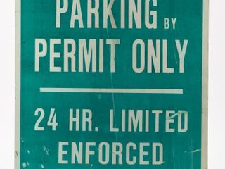 1966 PARKING BY PERMIT ONlY S S METAl SIGN