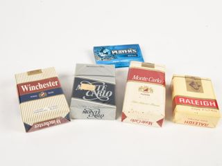 GROUPING OF 5 CIGARETTE COllECTOR PACKAGES