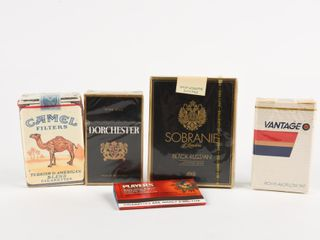 GROUPING 5 CIGARETTE COllECTOR PACKAGES