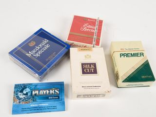 lOT OF 5 CIGARETTE COllECTOR PACKAGES