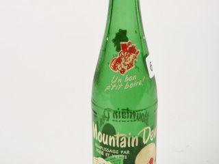 MOUNTAIN DEW 12 OZ  GREEN GlASS BOTTlE  NO CAP