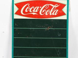 1960 COCA COlA FISHTAIl SST CHAlK BOARD