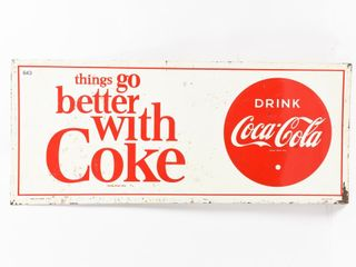 1965 THINGS GO BETTER WITH COKE SST SIGN